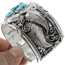 Turquoise Coral Mens Bracelet 14861