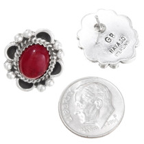 Red Coral Southwest Post Earrings  29519