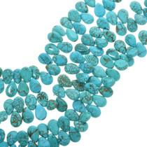 Teardrop Turquoise Magnesite Beads 30861