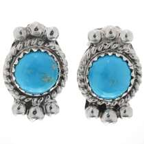 Kingman Turquoise Silver Earrings 27406