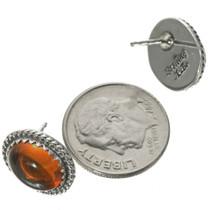 Native American Amber Stud Earrings 28448