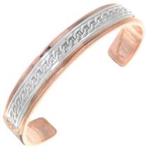 Copper Sterling Cuff Bracelet 31748