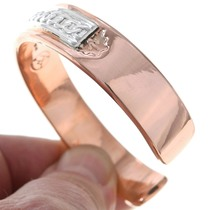Heavy Gauge Navajo Copper Bracelet 31748