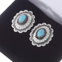 Native American Silver Concho Cuff Links