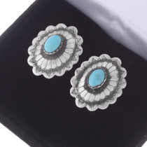 Native American Silver Concho Cuff Links 19615