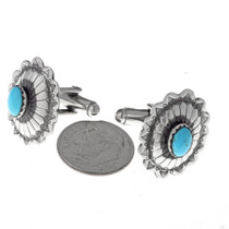 Traditional Antiqued Concho Cuff Links  19615