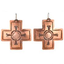 Native American Copper Cross Earrings 22319