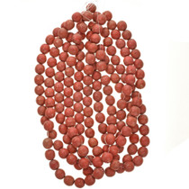 25mm Red Wooden Beads 30 inch Strand 1 inch Round Wood Beads