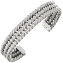 Silver Twist Wire Cuff 26801
