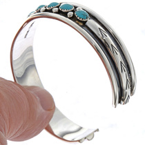 Turquoise Silver Cuff Bracelet 23565