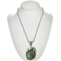 Turquoise Silver Pendant 28678