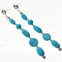 Turquoise Post Dangle Earrings 28400