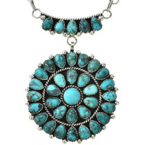 Traditional Petit Point Turquoise Necklace 29748
