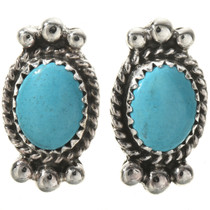 Turquoise Silver Post Earrings 28866