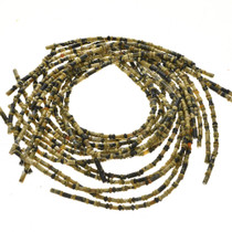 5mm Serpentine Tube and Rondel Beads 16 inch Long Strand