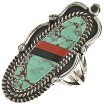 Turquoise Navajo Pointer Ring 28808