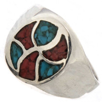 Coral Turquoise Mens Ring 25518
