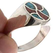 Inlaid Turquoise Mens Ring 25518