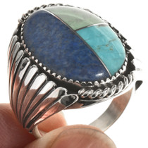 Inlaid Turquoise Lapis Mens Ring 28605