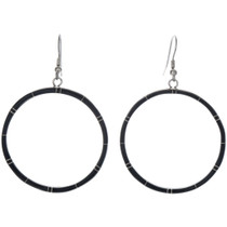 Onyx Southwest Hoop Earrings 19500