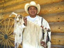 Plains Indian Ceremonial Medicine Man Handmade Peace Pipe