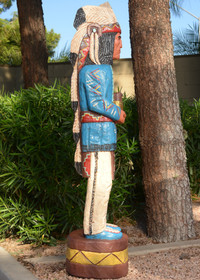 Blue Coat Cigar Store Indian Chief 33972