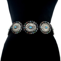 Multigemstone Silver Concho Belt 24062