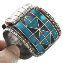 Old Pawn Turquoise Watch 29425
