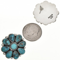 Old Pawn Style Cluster Earrings 29098