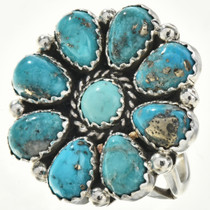 Turquoise Cluster Ladies Ring 29097
