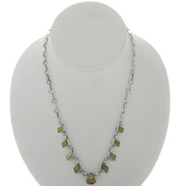 Green Turquoise Link Necklace 27725