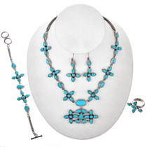 Genuine Blue Turquoise Necklace Set 11516