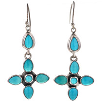 Turquoise Silver Drop Earrings 11516