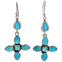 Turquoise Silver Drop Earrings 11516