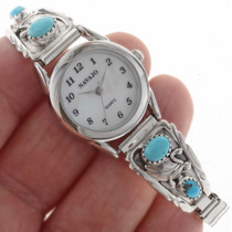 Navajo Turquoise Sterling Ladies Watch 23036