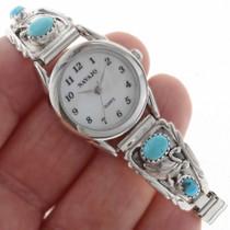 Navajo Turquoise Sterling Ladies Watch 23036