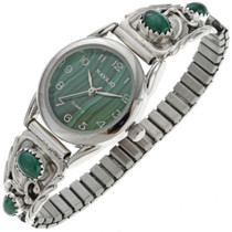 Native American Malachite Ladies Watch 24452