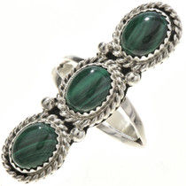 Malachite Silver Ladies Ring 29104