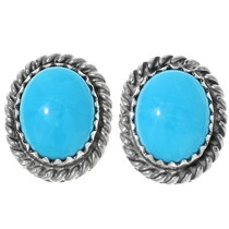 Navajo Turquoise Stud Earrings 28436