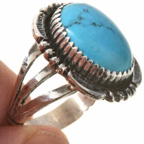 Ladies Blue Turquoise Ring 28734