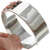 Coral Sterling Southwest Cuff Bracelet 14110