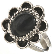 Black Onyx Silver Ladies Ring 28659