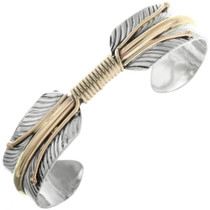 Gold Sterling Feather Bracelet 23581