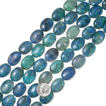 Gem Grade Chrysocolla Oval Beads 37048
