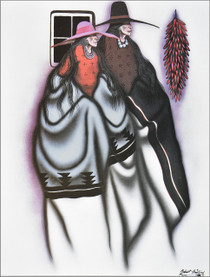 Small Kiowa Indian Looking Ahead Art Print 39174