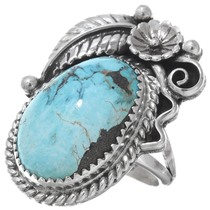 Turquoise Silver Ladies Ring 29162