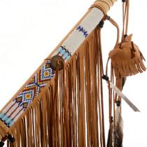 Seed Beaded Buckskin Spear 27836