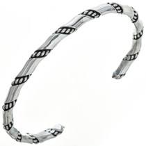 Navajo Sterling Twist Wire Bracelet 29953