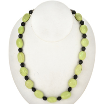 Green Turquoise Beaded Navajo Necklace 29453