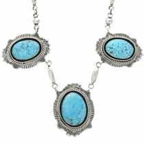 Navajo Turquoise Y Necklace 25138